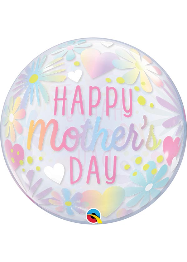"""22"""" Mother's Day Floral Pastel Bubble"""