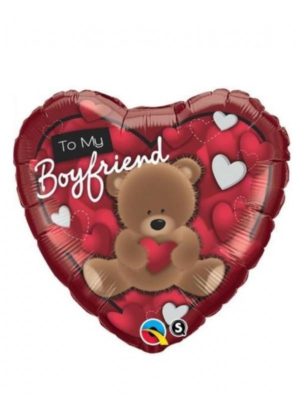 """18"""" Heart LOVE Bear To My Boyfriend"""