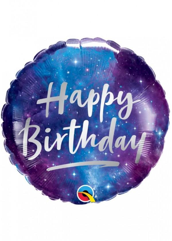 """18"""" Round BDAY Birthday Galaxy"""