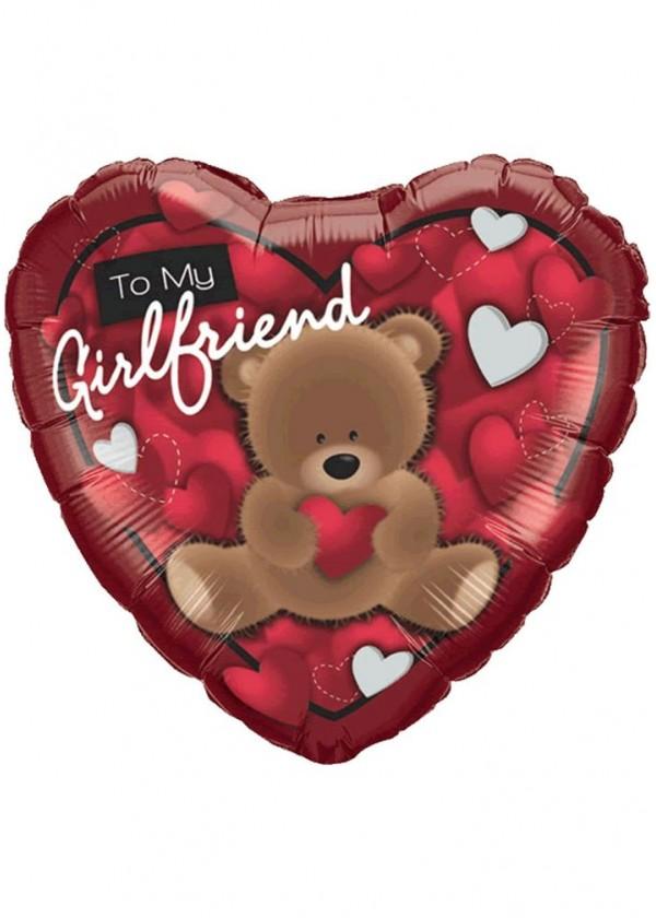 "18"" Heart LOVE Bear To My Girlfriend"