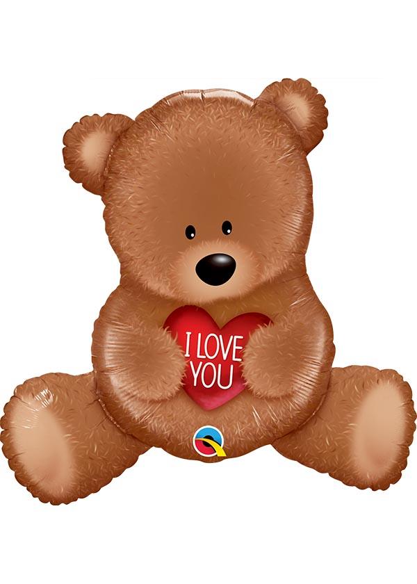 "35"" Shape I Love You Teddy Bear [Suprafoil]"