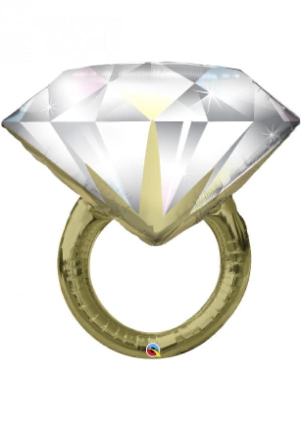 "35"" Shape Diamond Wedding Ring"