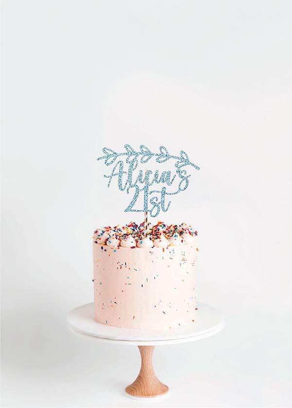 Cake Topper Wreath Overhead *NAME*