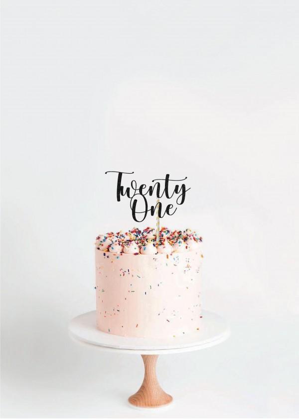 Cake Topper Twenty One