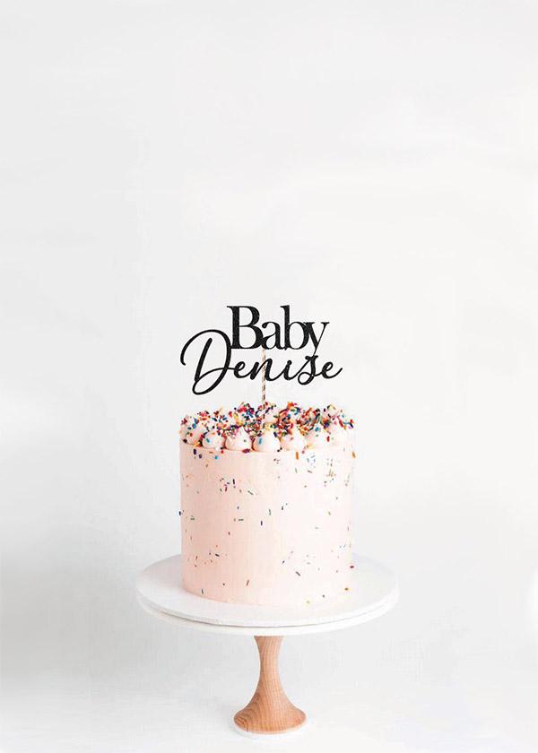 Cake Topper Baby *NAME*