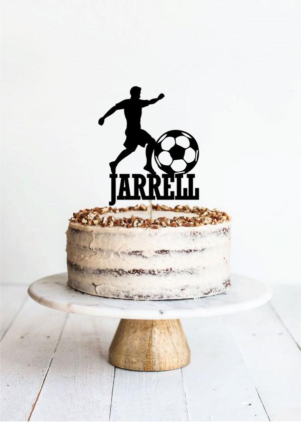 Cake Topper Soccer *NAME*