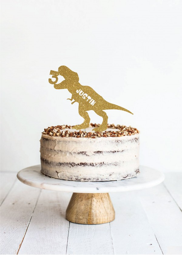 Cake Topper Dino with Age *NAME*