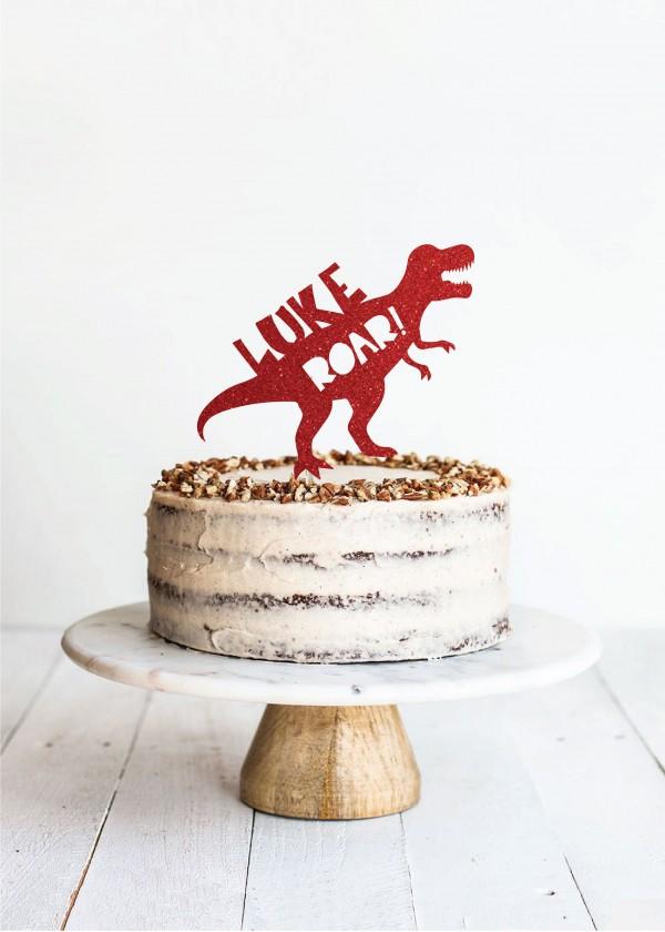 Cake Topper Dino Roar! *NAME*