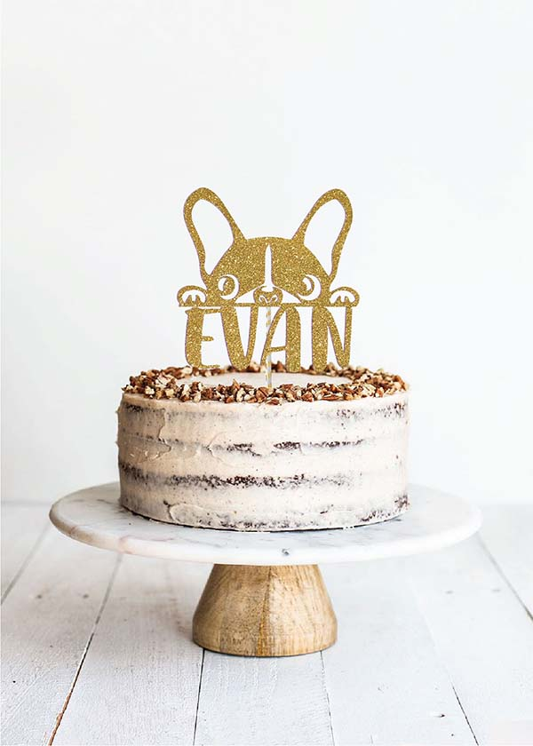 Cake Topper Frenchie  *NAME*