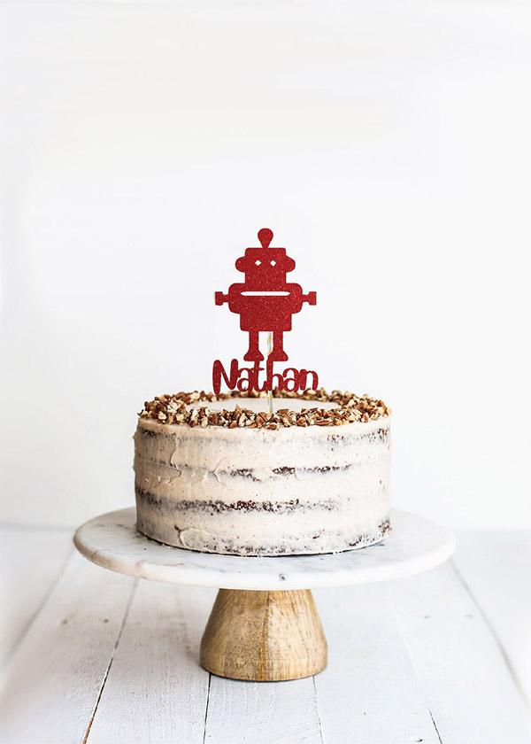Cake Topper Robot