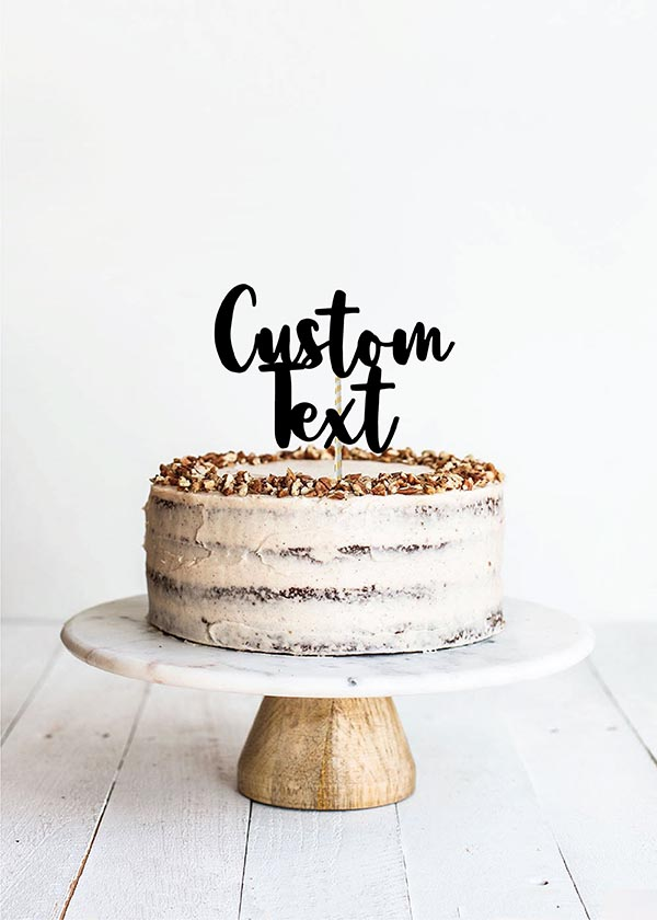Cake Topper 2 Line Thick Calligraphy Font