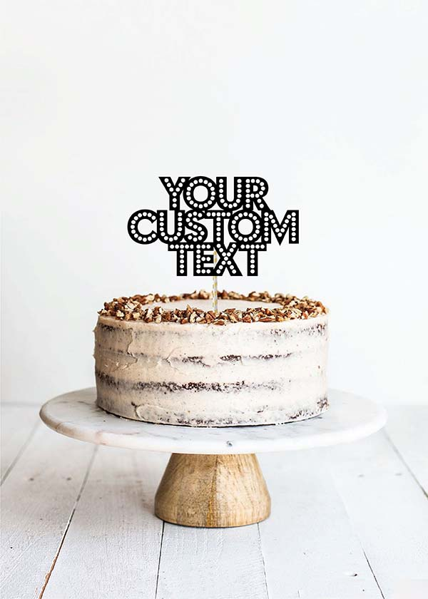Cake Topper 3 Line Marquee Font