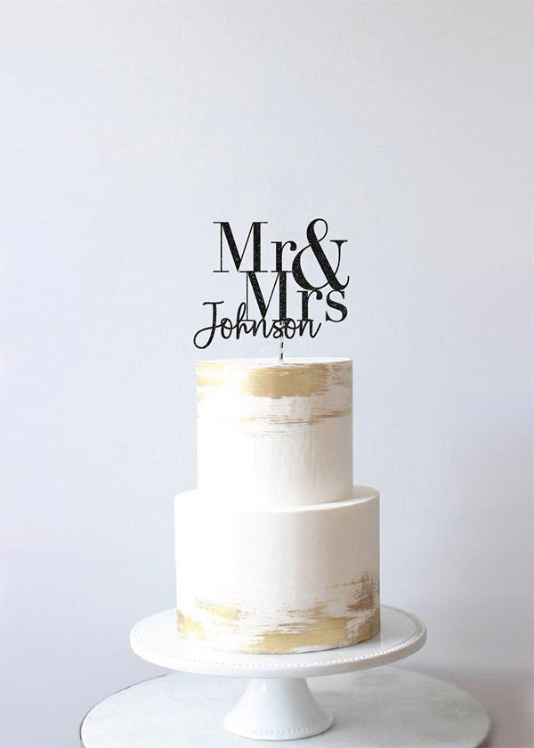 Cake Topper MR & MRS *NAME*