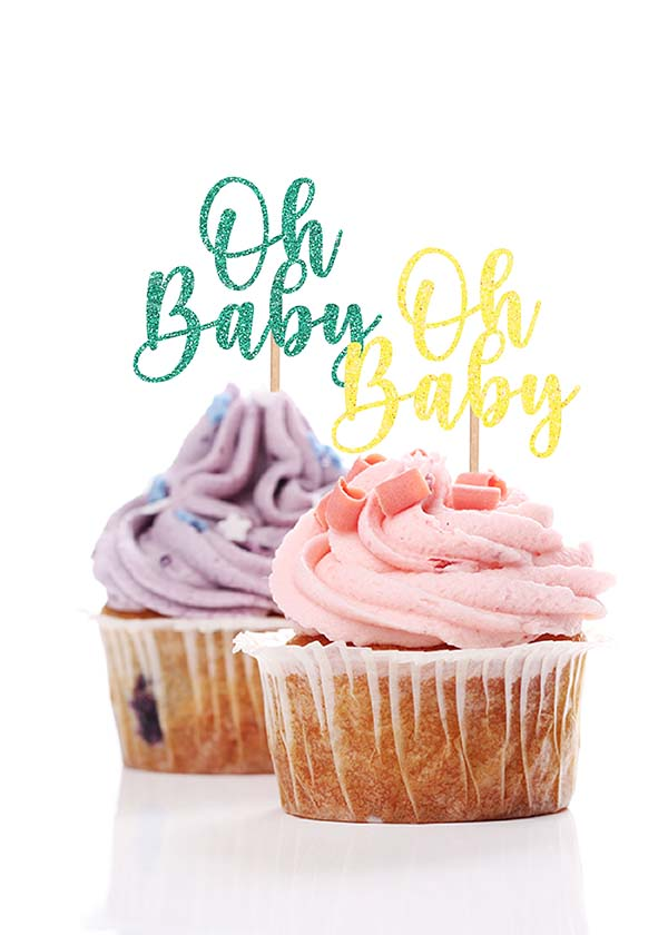 Cupcake Topper Oh Baby [Set of 5]