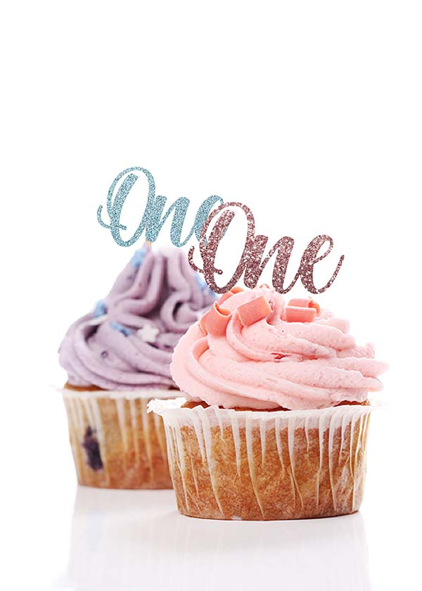 Cupcake Topper One [Set of 5]