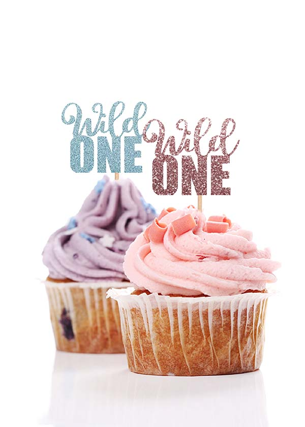 Cupcake Topper Wild One [Set of 5]