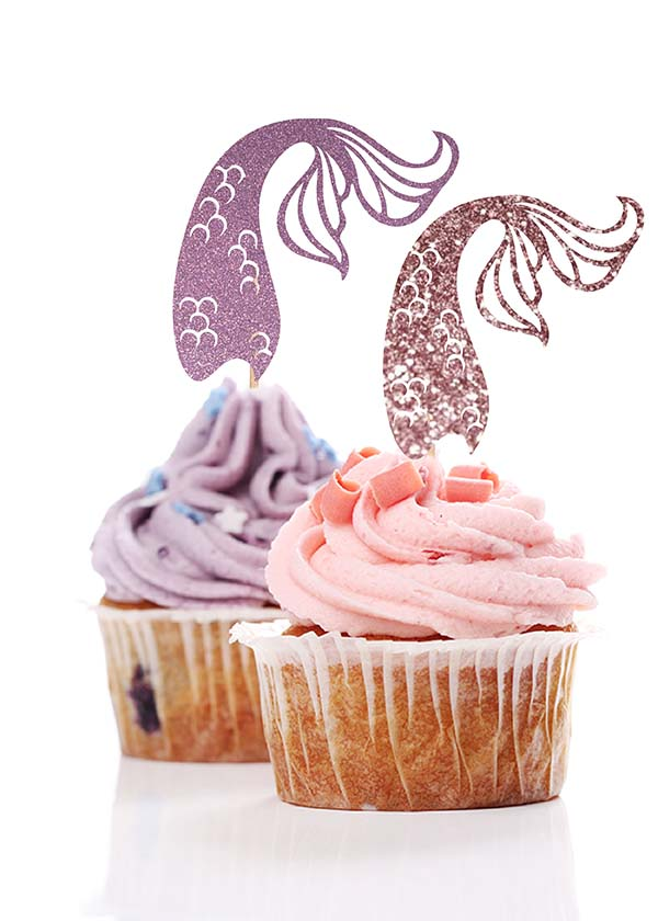 Cupcake Topper Mermaid Tail Curve [Set of 5]