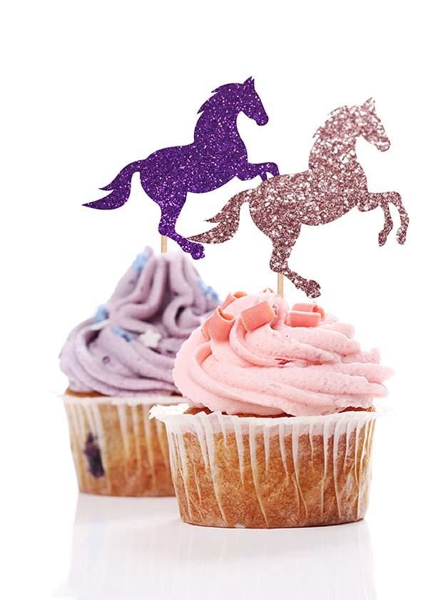 Cupcake Topper Mystical Unicorn [Set of 5]