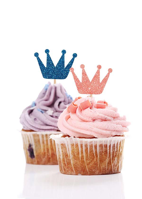 Cupcake Topper Crown [Set of 5]