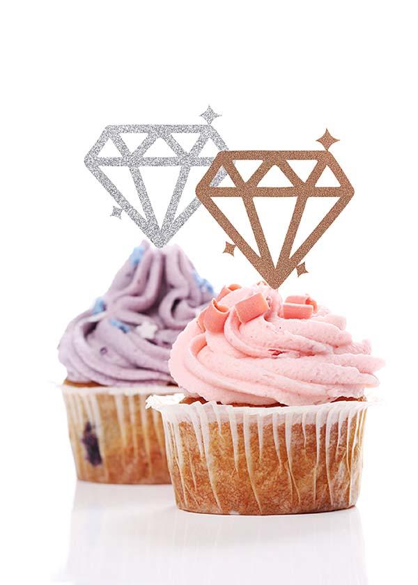Cupcake Topper Diamond [Set of 5]