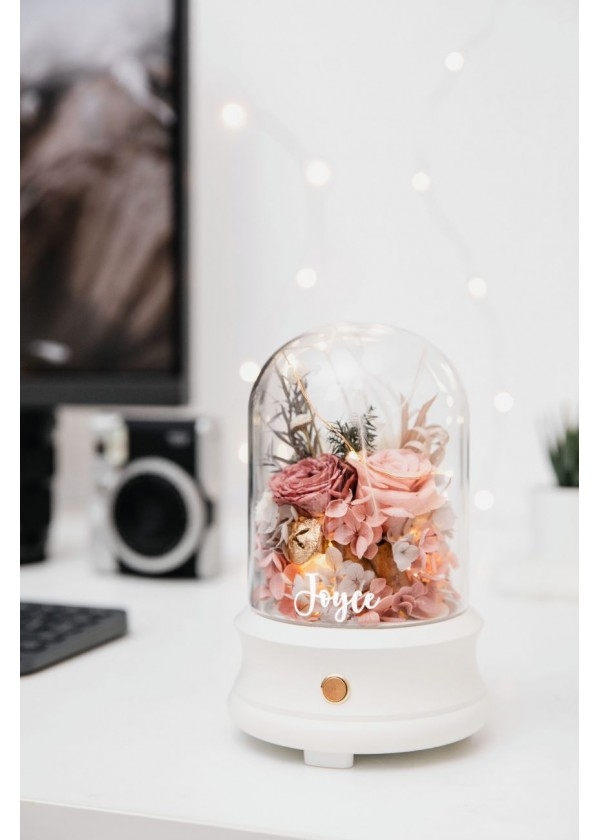 Bluetooth Speaker Flower Dome [Dusty Rose]