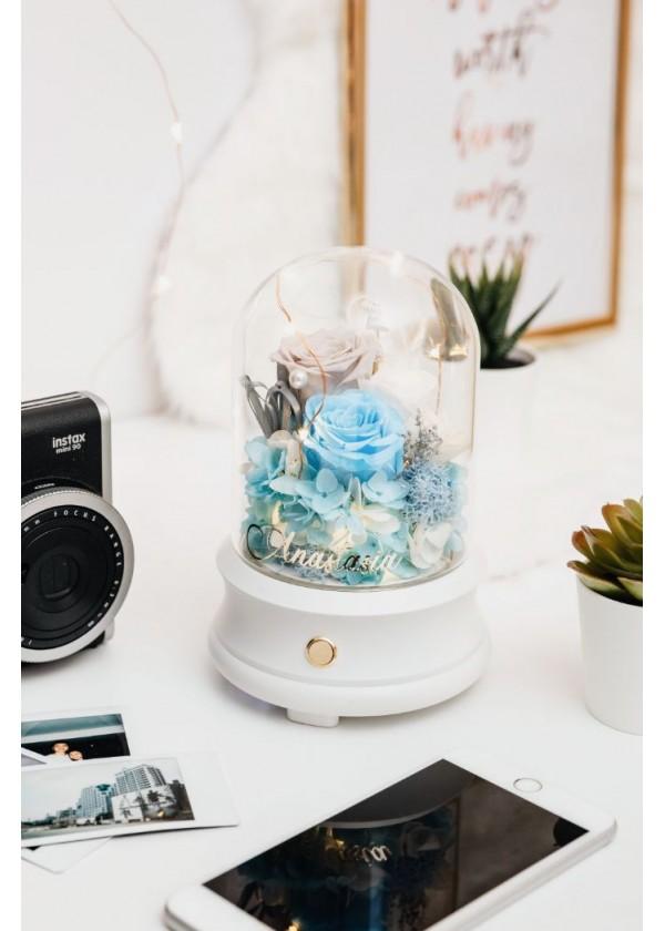 Bluetooth Speaker Flower Dome [Blue]