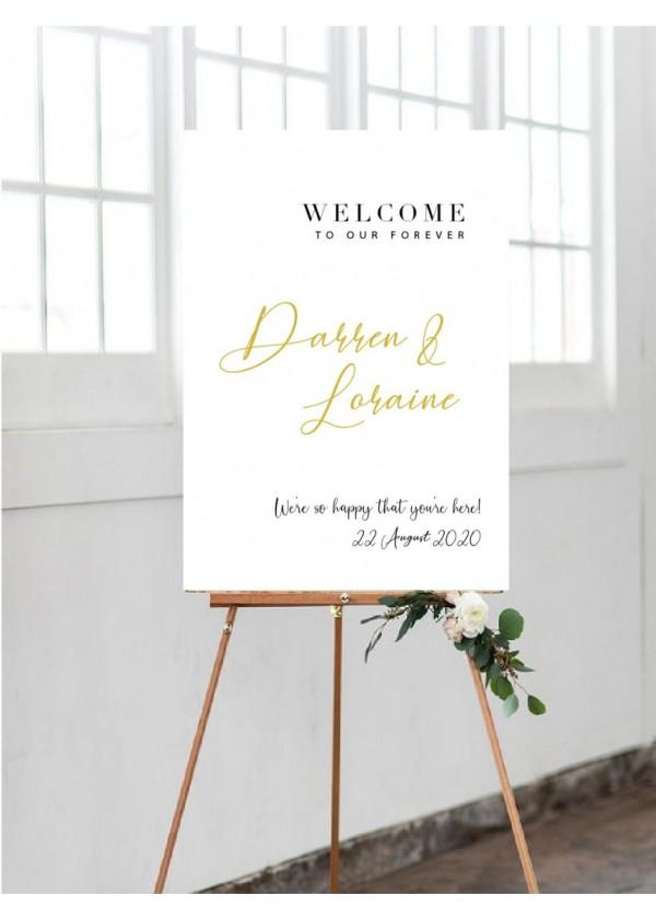 Wedding Signage (Design 3)