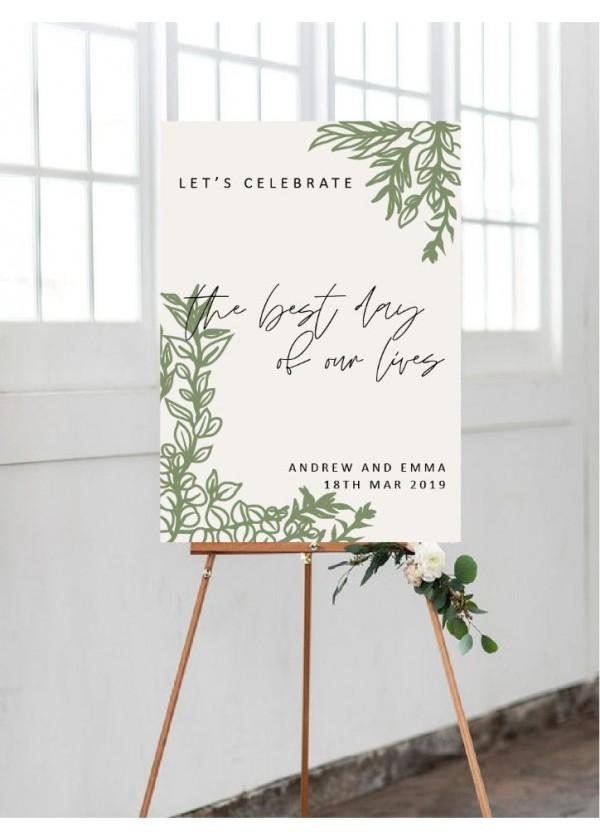 Wedding Signage (Design 4)